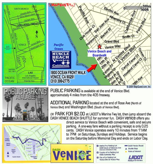 MuscleBeachMap - Venice beach boardwalk map
