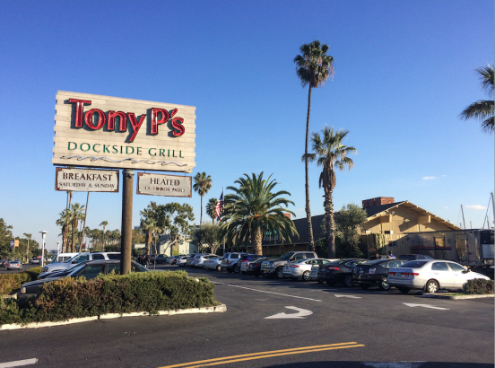 Dine and drink at Tony P's Dockside and Grill