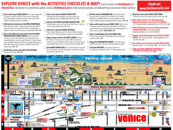 Have Visitors In Town Or Need A Venice StayCation Venice - Venice beach boardwalk map