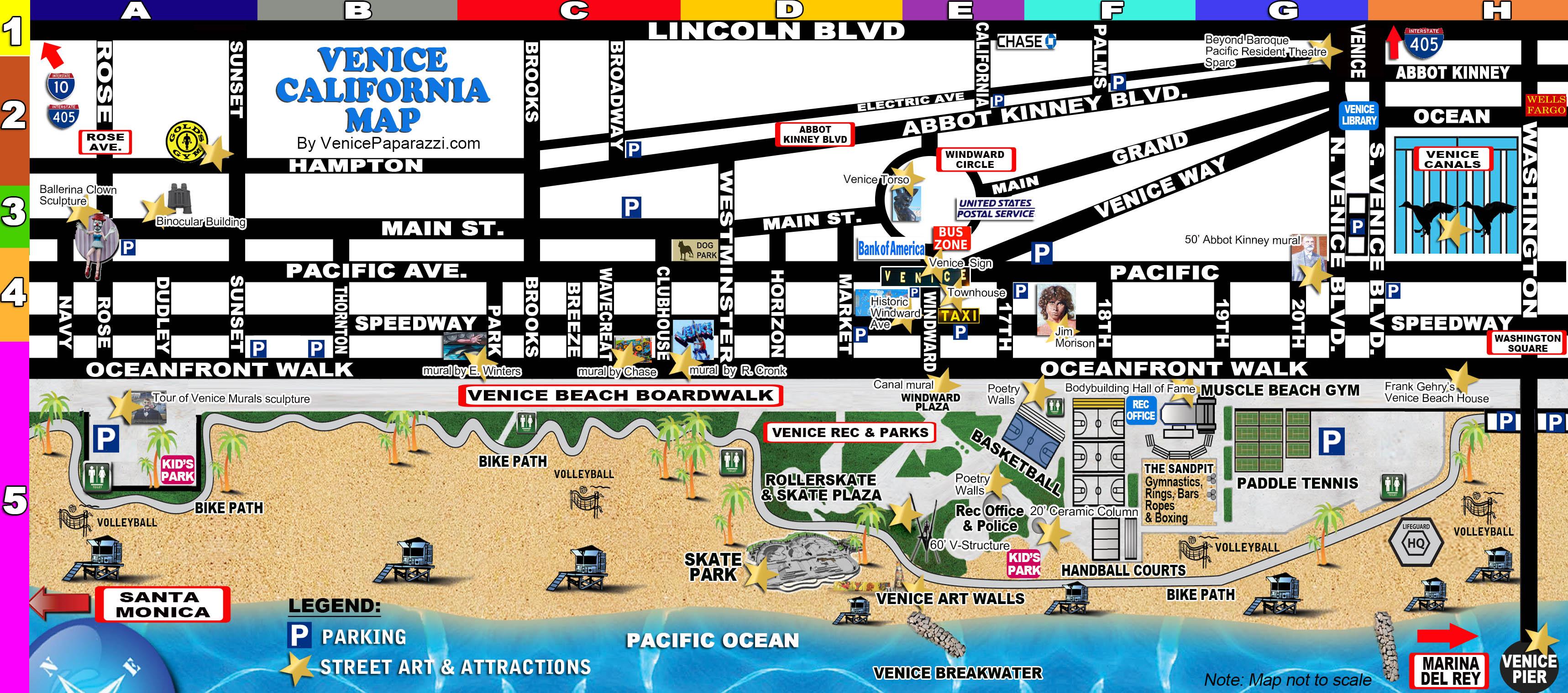 Venice Beach Map